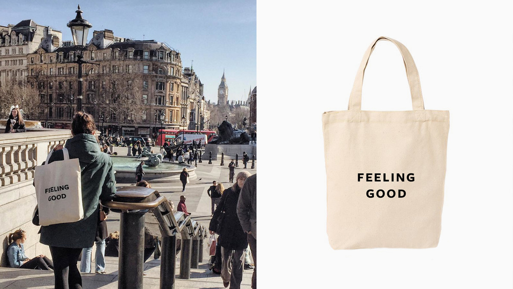 Good Stuff / Good Hotel tote bags traveling the world.