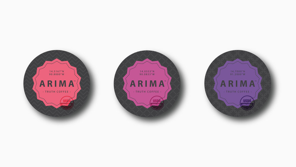 Arima / Packaging design line-up.