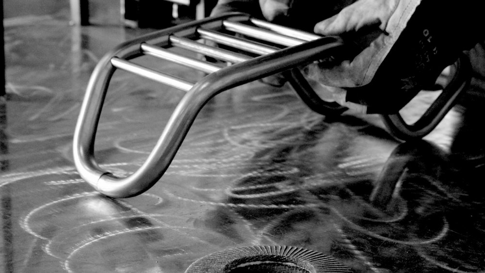 Production  / A combination of CNC and traditional bending techniques is used to make the frame.