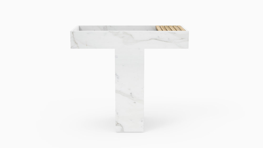 PILA  / Marble 'Blanco'.