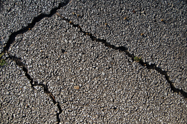 medium to large cracks