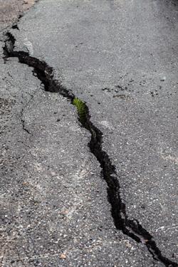 large crack