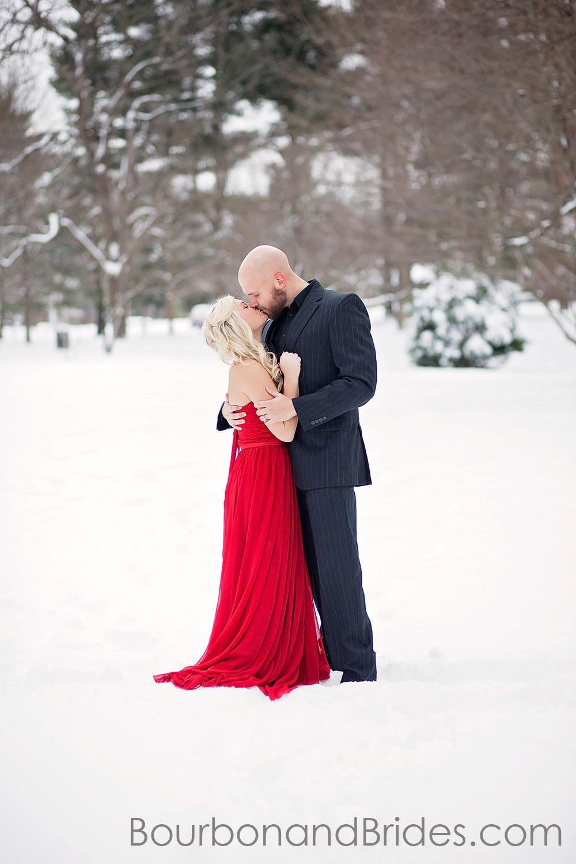 Snow Engagement Photos | Kentucky Wedding Photographer | Bourbon & Brides Kentucky Wedding Photography