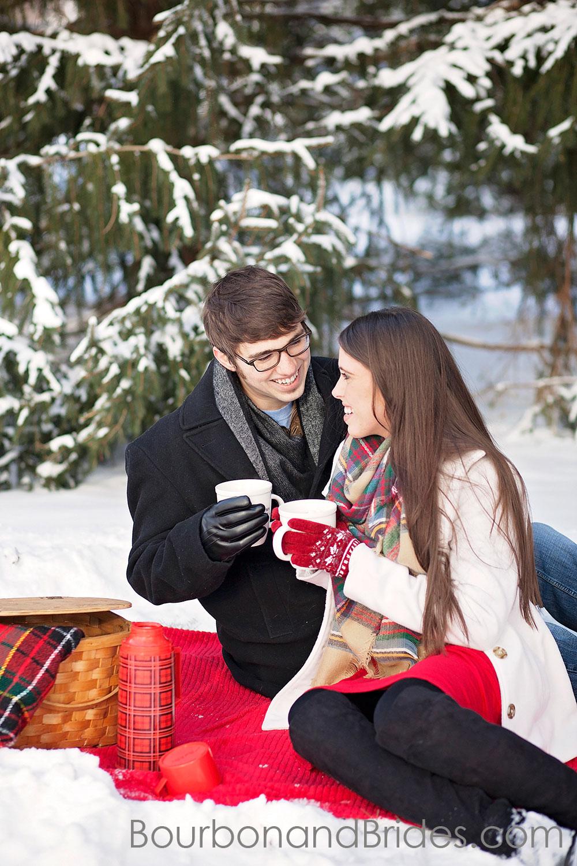 Snow In Frankfort | Kentucky Wedding Photographers | Bourbon & Brides Kentucky Wedding Photography