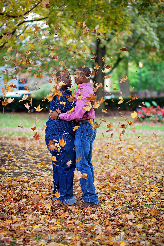 Fall leaves | Gratz Park Engagement | Lexington Gay Wedding | Bourbon and Brides Kentucky Wedding Photography | Kentucky Wedding Photographer