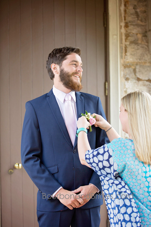 Groom Getting Dressed   Walnut Hill Church   Kentucky Wedding Photographer   Bourbon & Brides Kentucky Wedding Photography