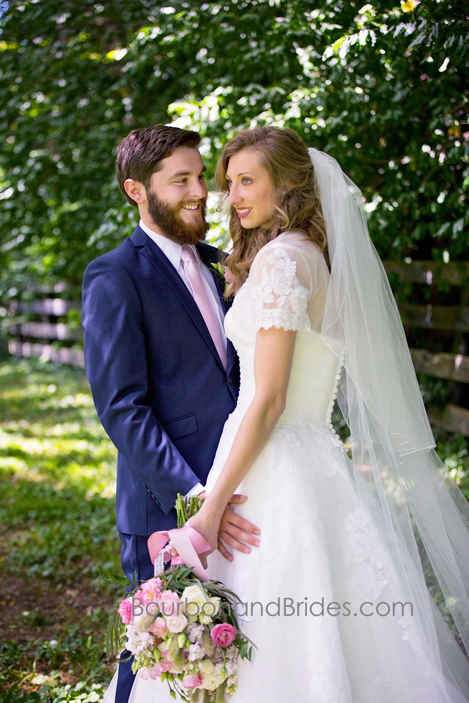 Bride and Groom laughing Portraits   Walnut Hill Church   Kentucky Wedding Photographer   Bourbon & Brides Kentucky Wedding Photography