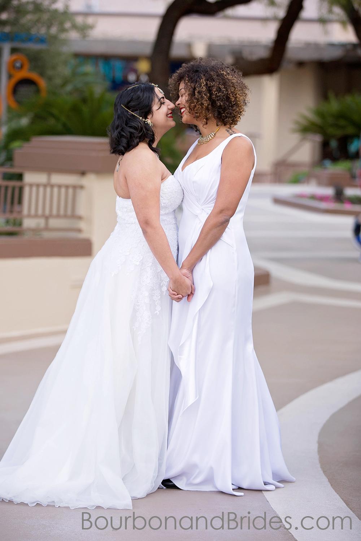 Kissing couple   Lesbian couple LGBT Wedding Gay Wedding   Las Vegas MGM Grand Wedding   Kentucky Wedding Photographer   Bourbon & Brides Kentucky Wedding Photography