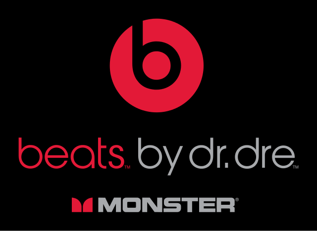 The Beats by Dre logo, used on the grounds of fair use.