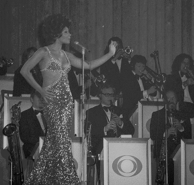 Shirley Bassey. C.C. Image: Mallet100 on Wikimedia Commons.