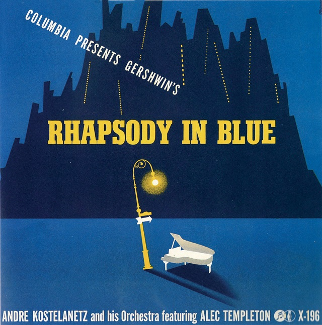 Gershwin's Rhapsody in Blue (1942) cover, used on the grounds of fair use.