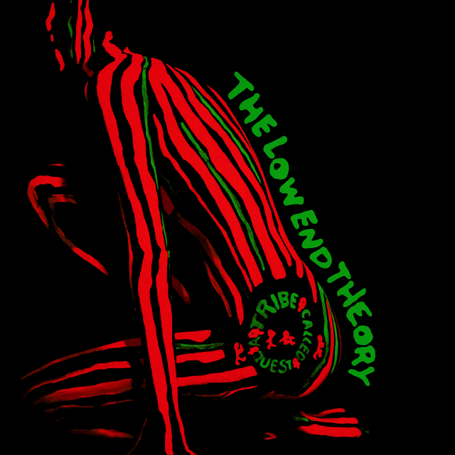 A Tribe Called Quest's The Low End Theory (1991) cover, used on the grounds of fair use.
