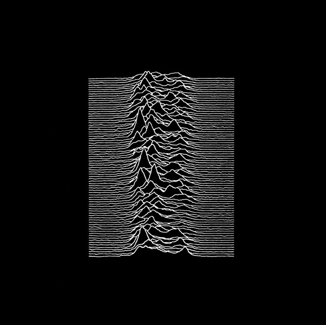Joy Division's Unknown Pleasures (1979) cover, used on the grounds of fair use.