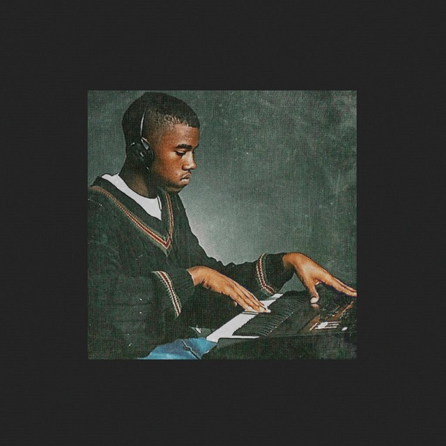 The cover for Real Friends, a photo of West as a young beatmaker. Image: Twitter.