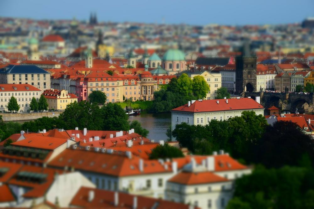 A view of Prague.