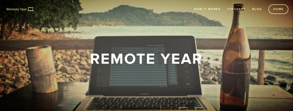Remote Year website