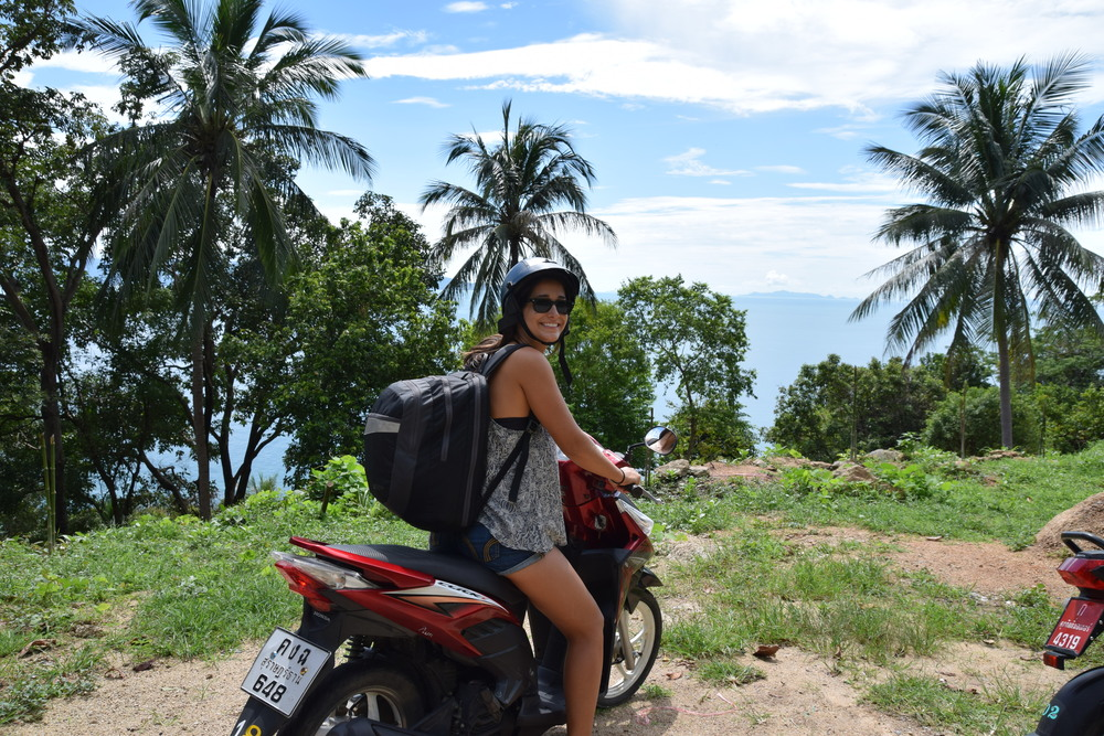 Scooting around in Koh Phagnan, Thailand