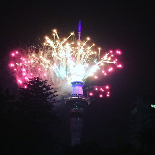 Fireworks in New Zealand - one of the first places to see the new year