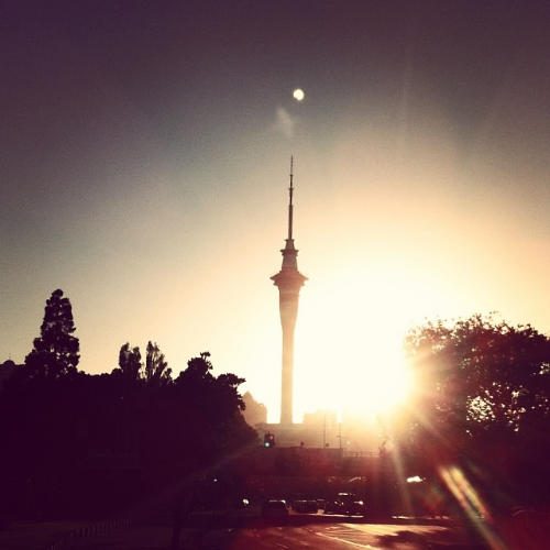 The iconic sky tower