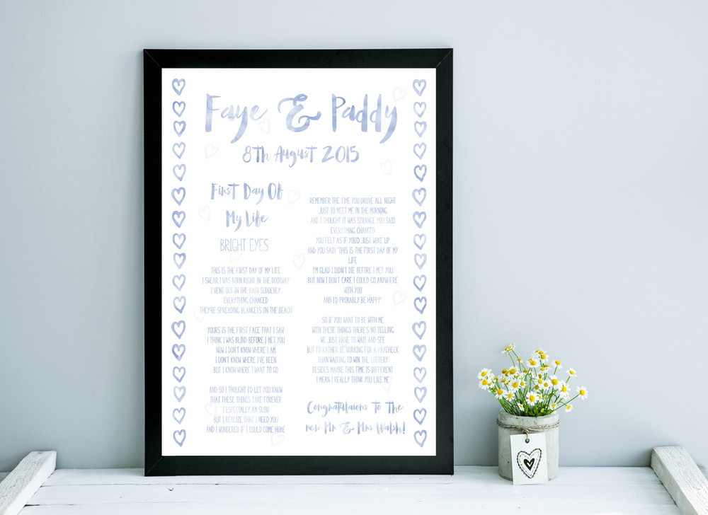 Custom first dance wedding artwork