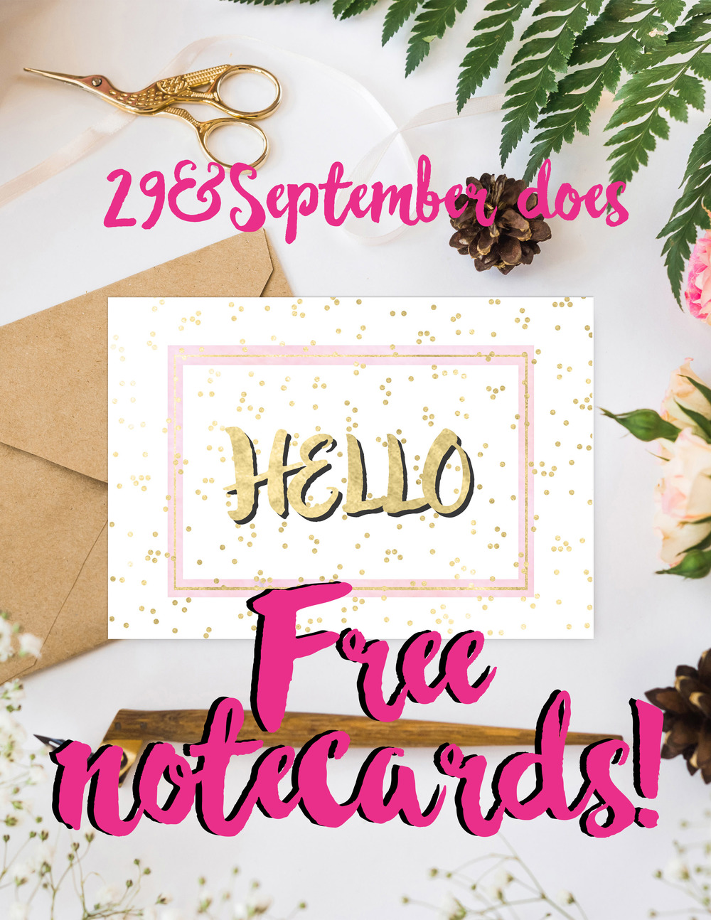 Free notecards from 29&September