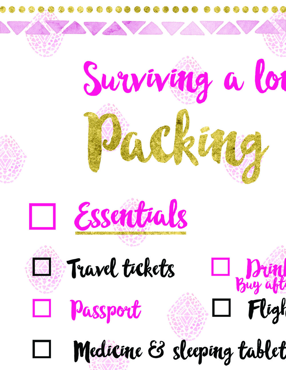 A sneak peek of your free printable packing checklist....