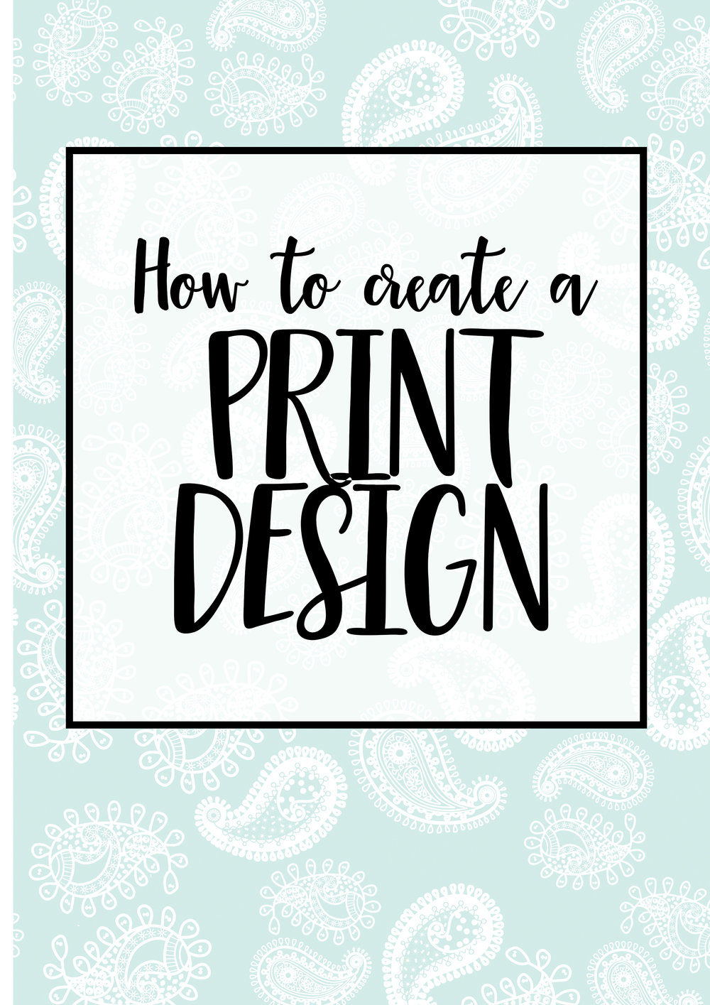 How to create a print design