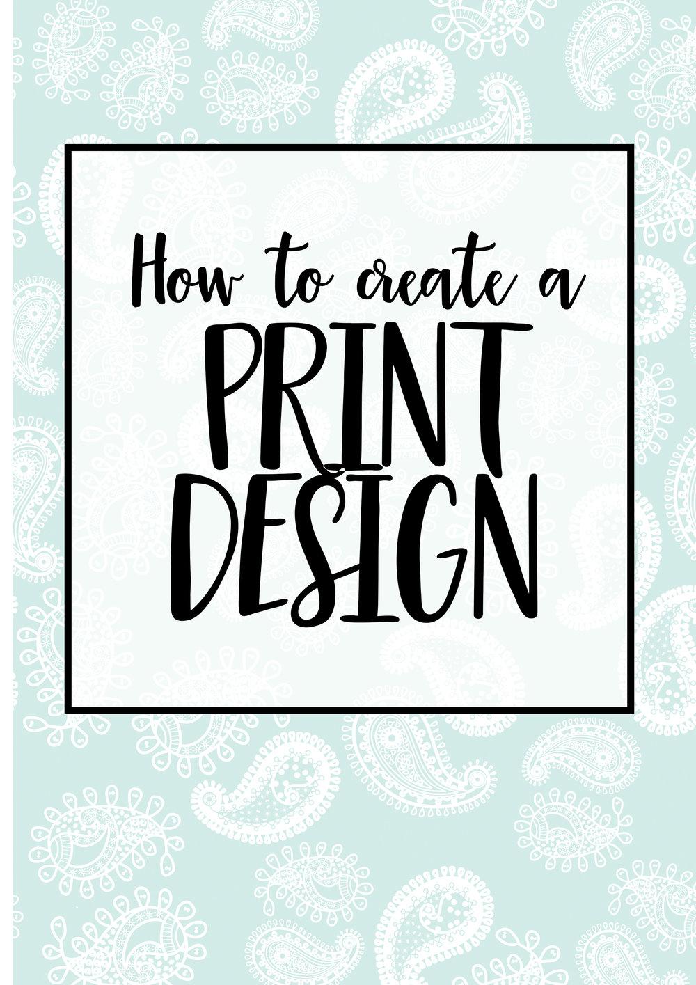 How to create a print design