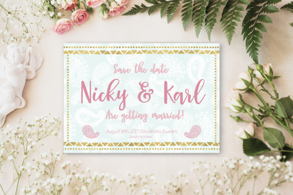 Save the date card customised for your wedding, by 29&September