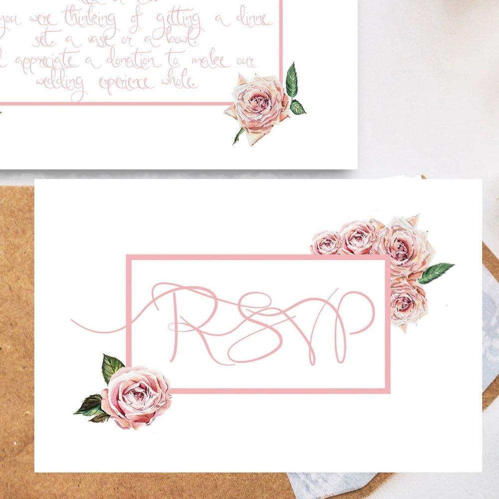 RSVP card £5