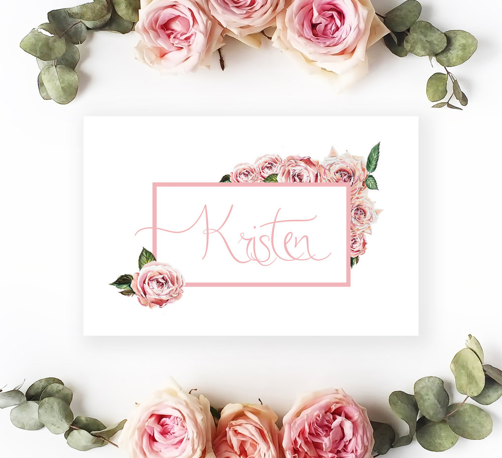 Name card with 25 names £7.50