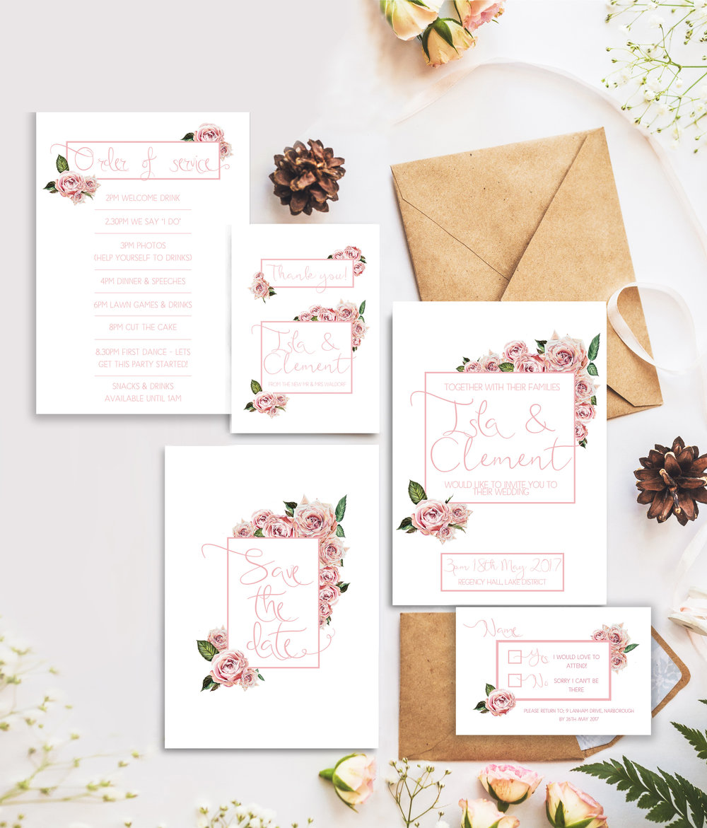 Rose Garden stationary suite