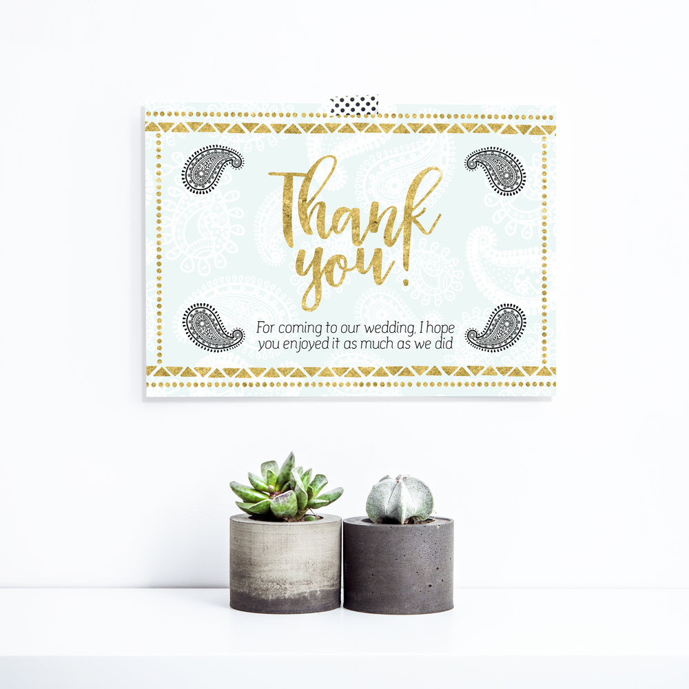 Thank you card £5
