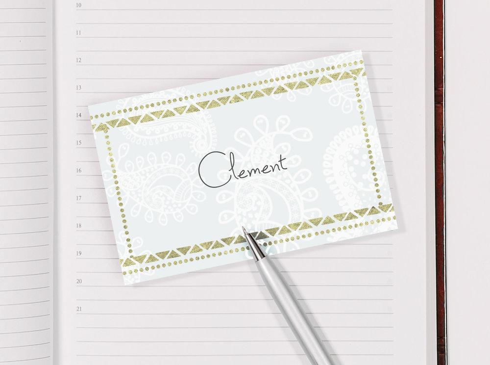 Name card, blank £3