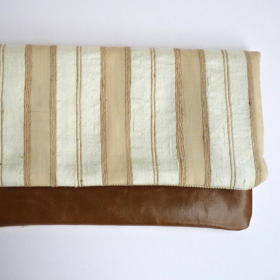 Leather clutch bag, 29&September