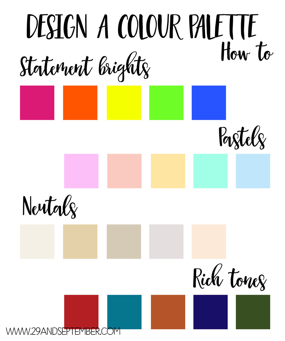 How to create your own colour palette, 29&September