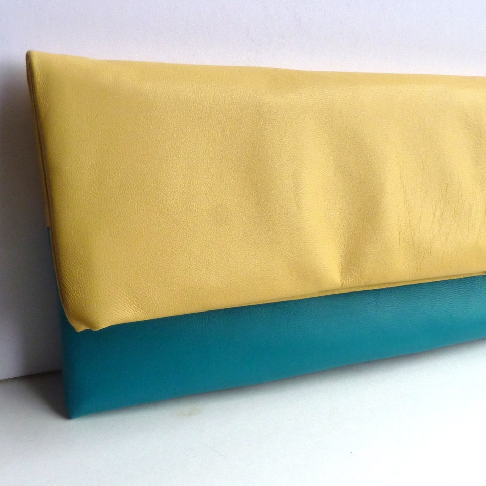29&September leather clutch bag