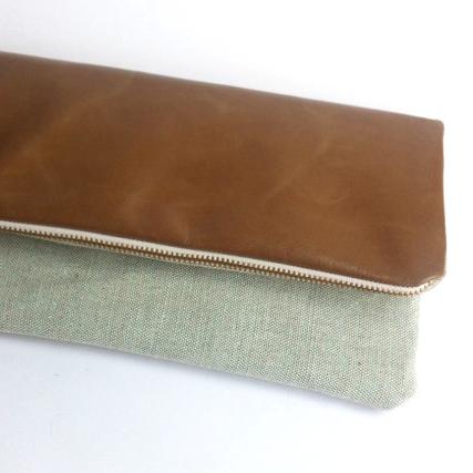 29&September leather clutch bag