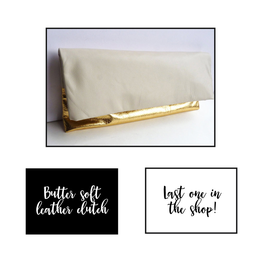 Last metallic gold clutch!