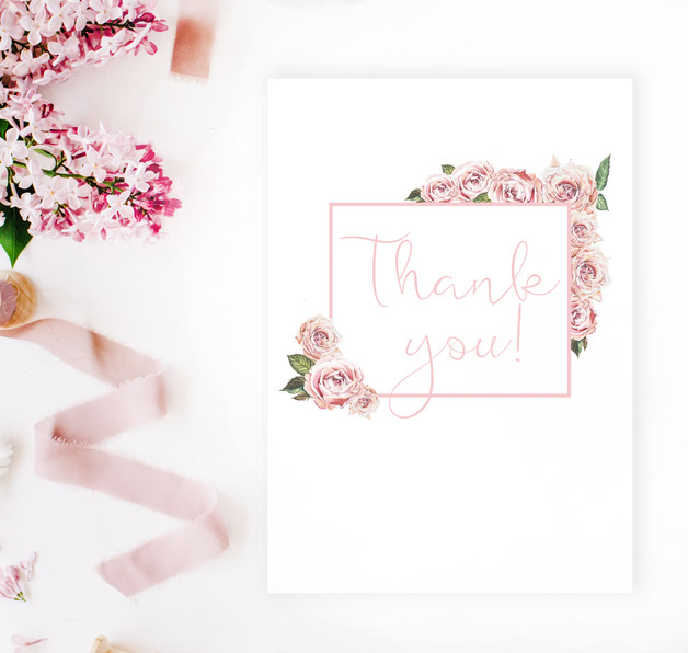 Thank you card by 29andSeptember