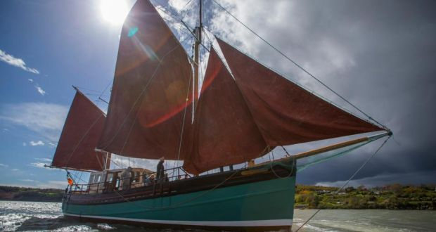 The Brian Boru under full sail