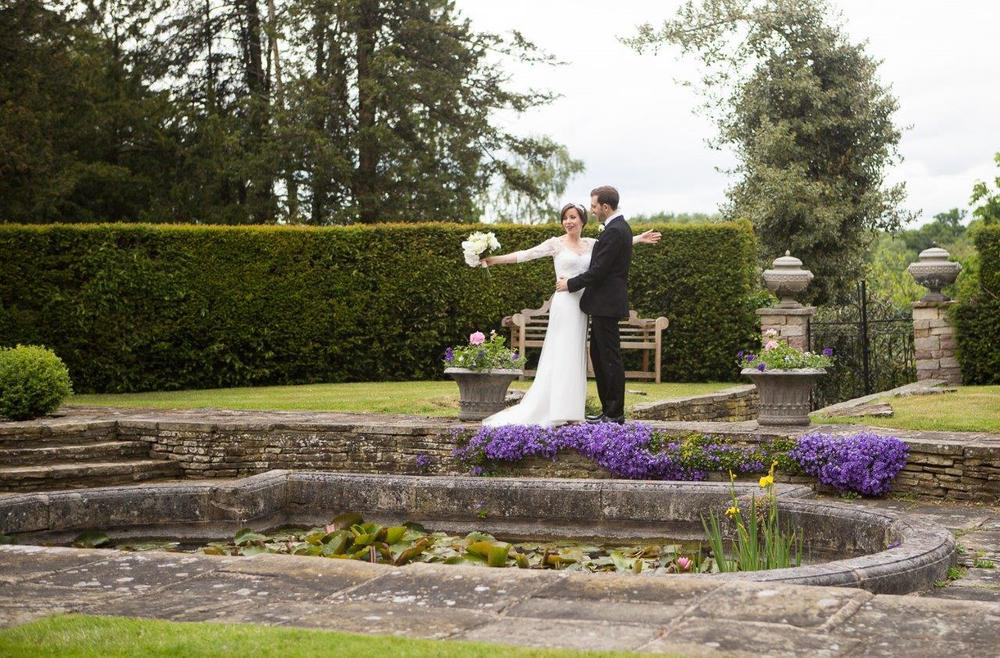 Our sunken garden is elegant and sophisticated - like our Brides!