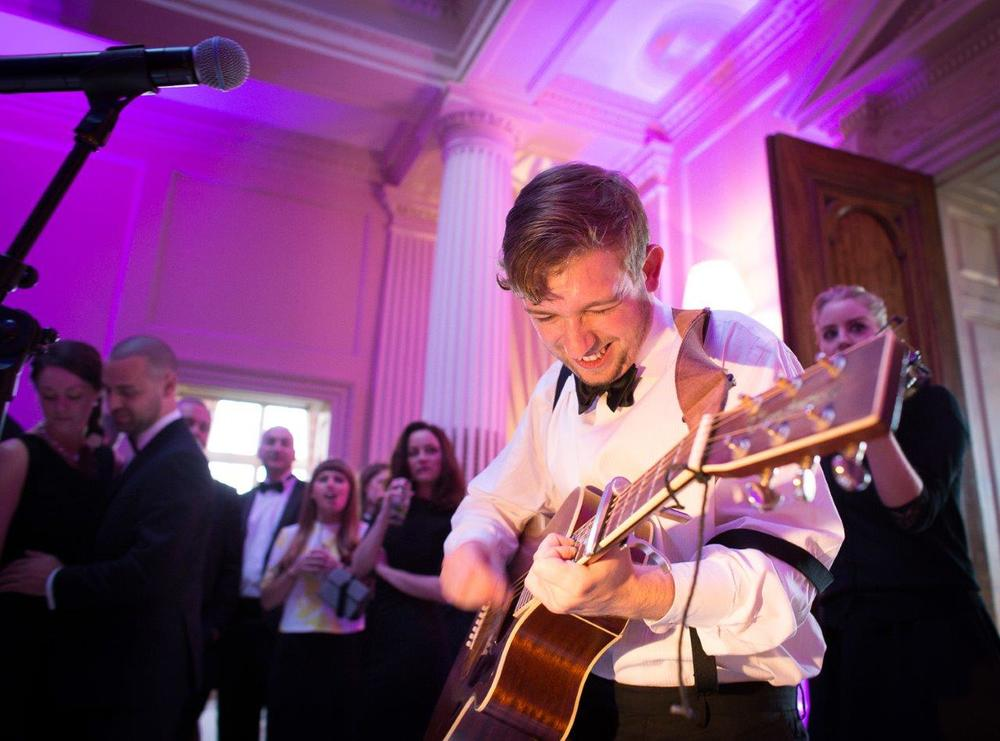 Music and revelry are well at home at Hedsor weddings!