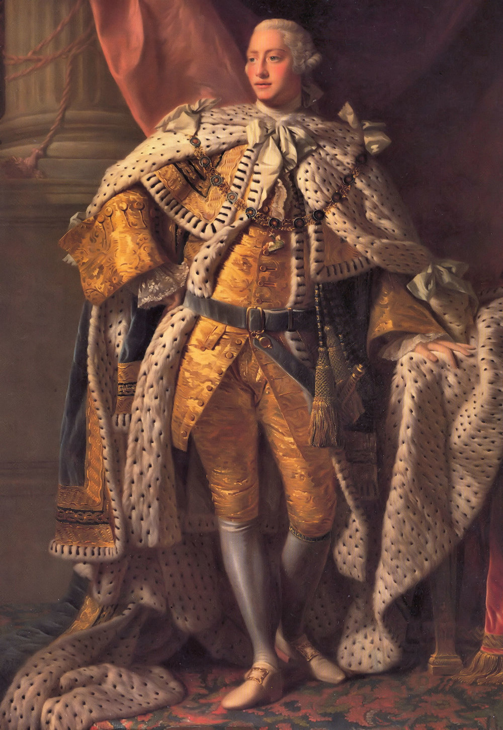 King George III - Prince William named his first born after this monarch and this original portrait hangs in the Grand Staircase of Hedsor House.