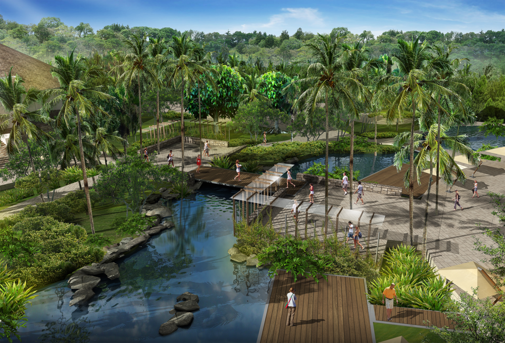 La propuesta de paisaje para el HSA se basa en conceptos sustentable |The landscape proposal is based on sustainability concepts