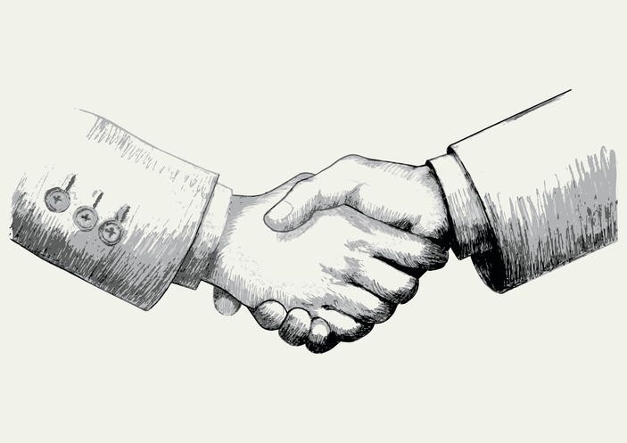 Handshake to build trust
