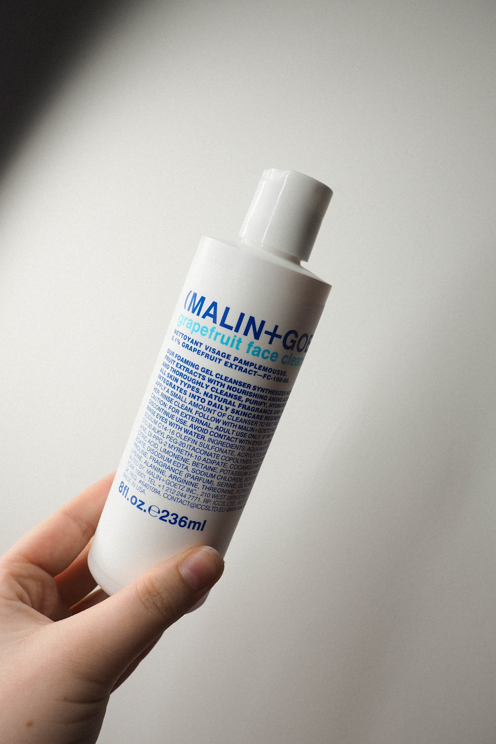 Malin and Goetz cleanser