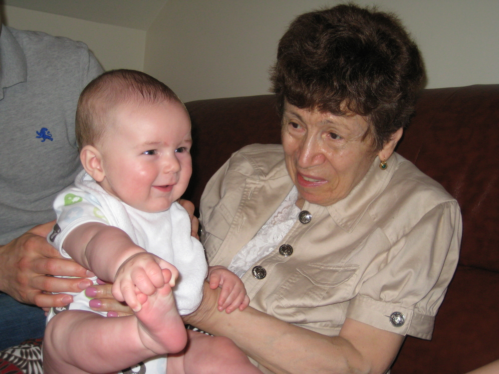 Emilia and her grandson, Jack