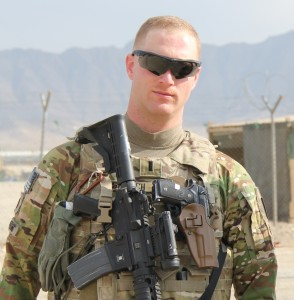Lt. Teague Savitch on assignment in Afghanistan