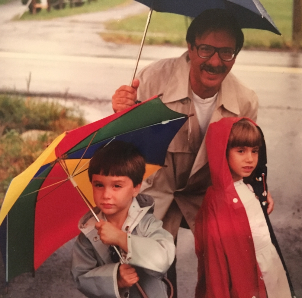 Stephen Kotzin and his children around the time of his diagnosis.